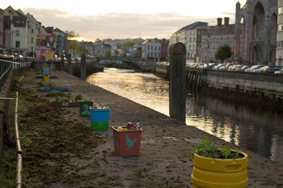 George's Quay at dusk