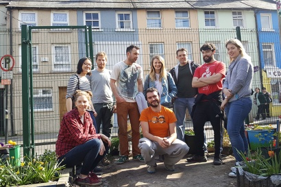 Volunteers in the Kyle St garden