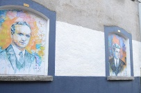 Kyle St Portraits - Tomas MacCurtain (L), Michael Collins (R)