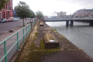 Before image of the abandoned wharf on Patrick's Quay