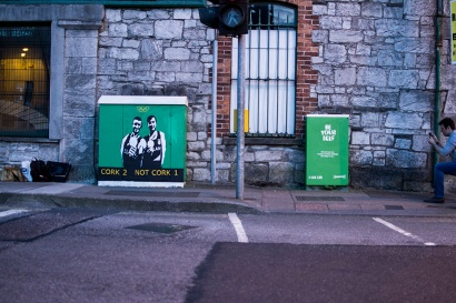Painted electrical boxes on Union Quay
