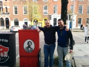 A nice moment as we were painting this tribute when we met Wayne Elmes (great grand nephew of Mary) who happened to be passing by! Wayne is on the left of the pic with Kevin O'Brien